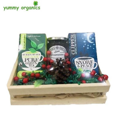 Picture of GIFT BOX #14 Clipper organic tea & Tiptree jam Box