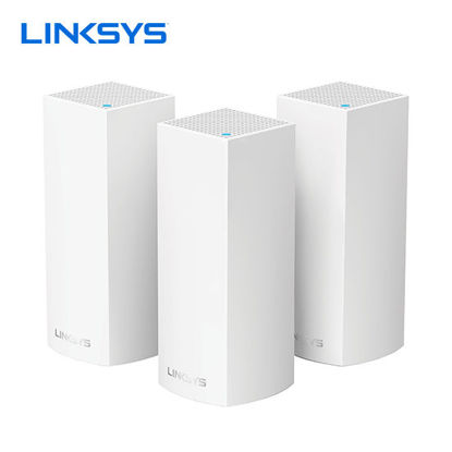 Picture of Linksys Velop Intelligent Mesh WiFi System, Tri-Band, 3-Pack White (AC6600)