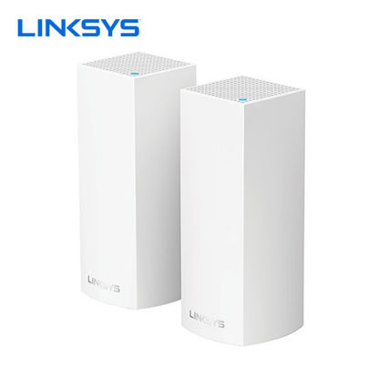 Picture of Linksys Velop Intelligent Mesh WiFi System, Tri-Band, 2-Pack White (AC4400)