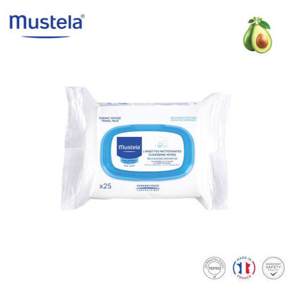 Picture of Mustela Cleansing Wipes x25