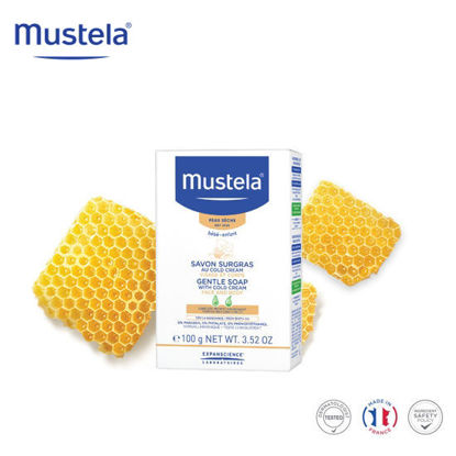 Picture of Mustela Gentle Soap with Cold Cream 100grams
