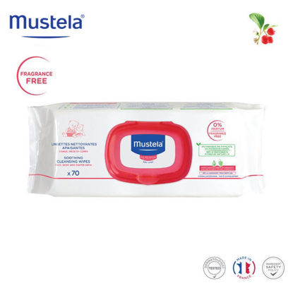 Picture of Mustela Soothing Cleansing Wipes x70