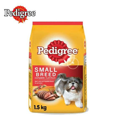 Picture of Pedigree small breed beef lamb and vegetables 1.5kg