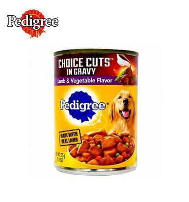 Picture of Pedigree wet choice cuts with lamb and vegetables 375g