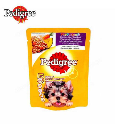 Picture of Pedigree puppy chicken liver egg and vegetables 80g