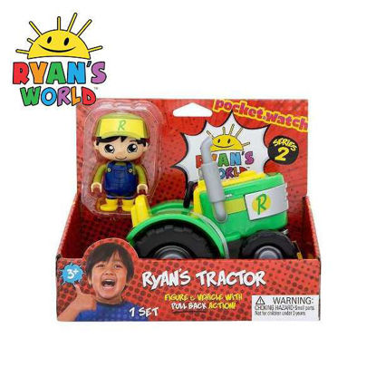 Picture of Ryan's World Tractor 3-inch Figure & Vehicle with Pull Back Action Series 2