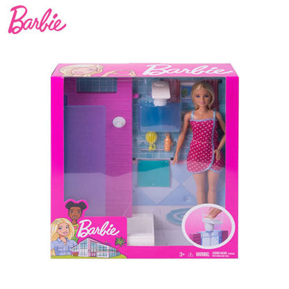 Picture of Barbie Doll and Furniture Set - Bathroom with Working Shower