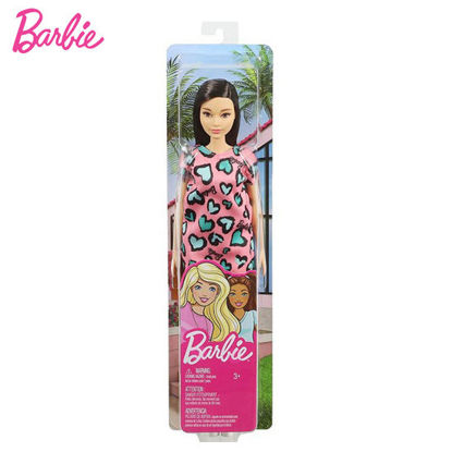 Picture of Barbie Fab Doll Pink Dress Heart Design - Black Hair