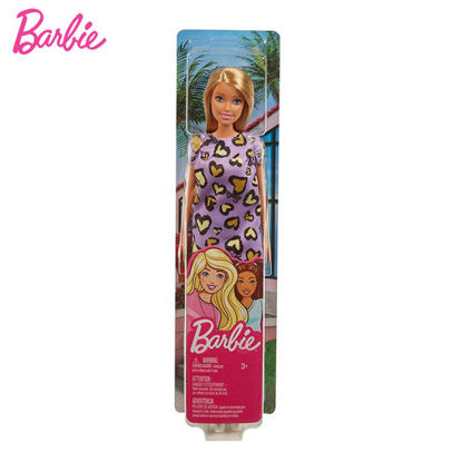 Picture of Barbie Fab Doll Pink Dress Heart Design - Blonde Hair