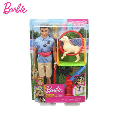 Picture of Barbie Ken Dog Trainer Playset with Doll and Accessories