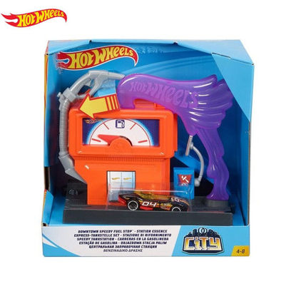 Picture of Hot Wheels City Themed Downtown Speedy Fuel Stop Playset