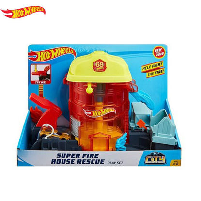 Picture of Hot Wheels Citu Super Fire House Resque Playset