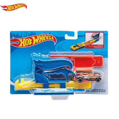 Picture of HotWheels Pocket Launcher with DCC Playset - Blue