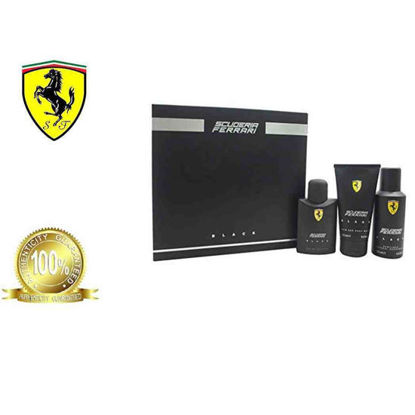 Picture of Ferrari Scuderia Black Trio 125ml Eau De toilette + 150 Deo spray + Hair and Body Wash Set