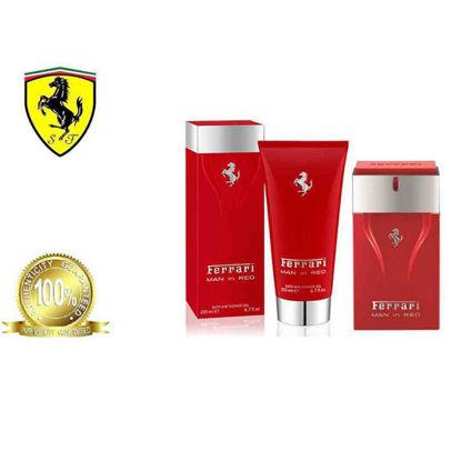 Picture of Ferrari Man in Red Trio Set Eau De Toilette + Deo spray 150ml + Bath & Shower Gel 200ml