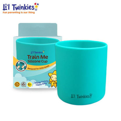 Picture of Li'l Twinkies Train Me Silicone Cup, Teal