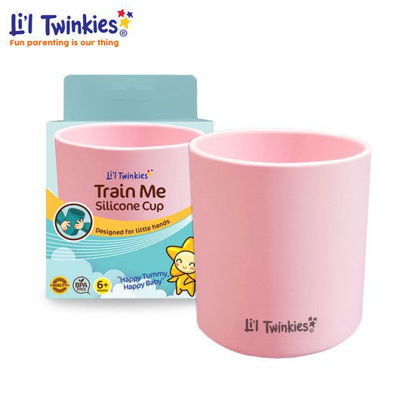 Picture of Li'l Twinkies Train Me Silicone Cup, Blush Pink
