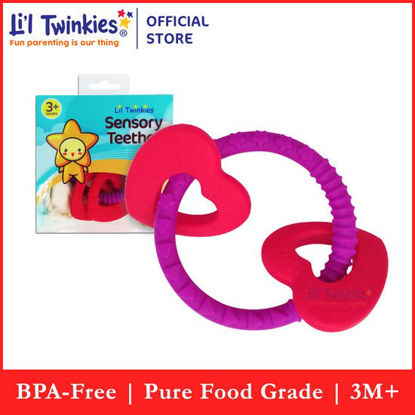 Picture of Li'l Twinkies Sensory Teether Ring, Luscious Hearts