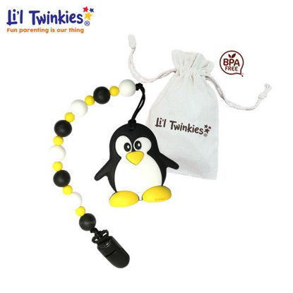 Picture of Li'l Twinkies Teether w/ Clip-on, Happy Penguin