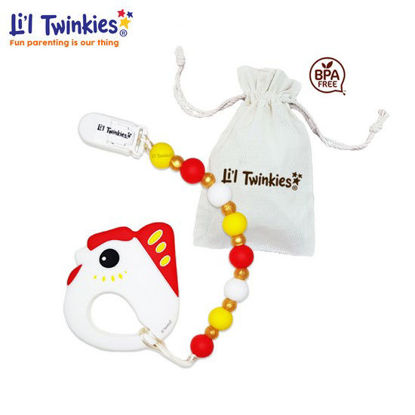 Picture of Li'l Twinkies Teether w/ Clip-on, Lucky Chicken