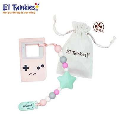 Picture of Li'l Twinkies Teether w/ Clip-on, Pink Gameboy