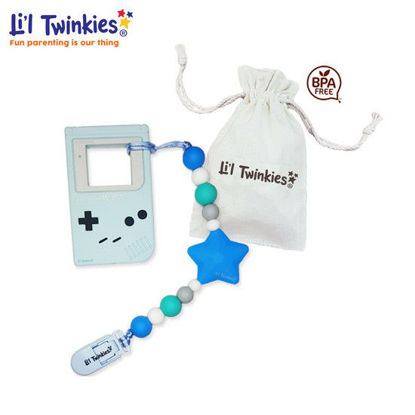 Picture of Li'l Twinkies Teether w/ Clip-on, Blue Gameboy