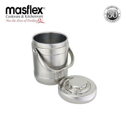 Picture of Masflex 1.6L Ss Double Wall Ice Bucket W/ Ice Tongs