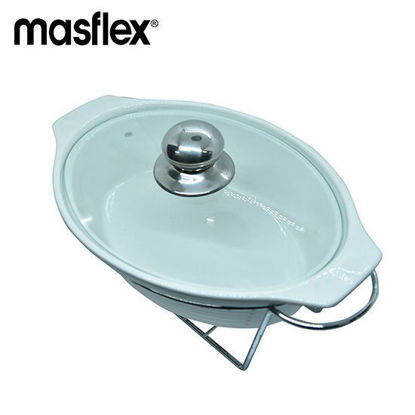 Picture of Masflex 13 In.Oval Casserole W/ Candle Stand