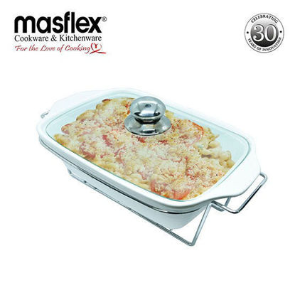 Picture of Masflex 13.5 In.Rect. Casserole W/ Candle Stand