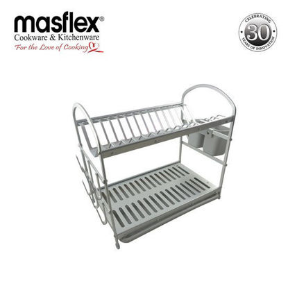 Picture of Masflex 2 Layer Aluminum Dish Rack W/ Plastic Tray