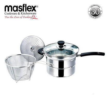 Picture of Masflex 18Cm S/S Deep Fryer W/ Steamer
