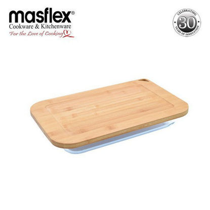 Picture of Masflex 2.4L Rect Glass Bakeware W/ Bamboo Lid