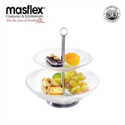 Picture of Masflex 2 Tier Glass Deep Plate Server