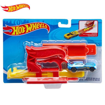Picture of HotWheels Pocket Launcher with DCC Playset - Red