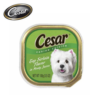 Picture of Cesar canine cuisine top sirloin flavor in sauce 100g