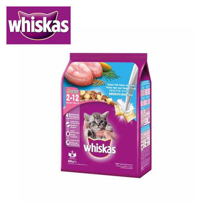 Picture of Whiskas Dry Junior Ocean Fish and Milk 450g
