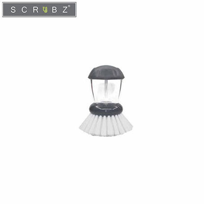 Picture of SCRUBZ Heavy Duty Cleaning Essentials Easy Grip Premium Palm Brush with Soap Dispenser