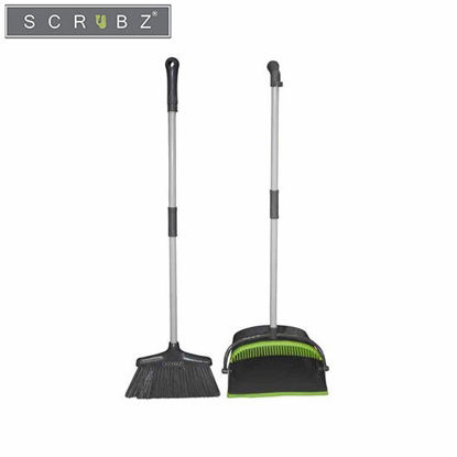 Picture of SCRUBZ Heavy Duty Cleaning Essentials Easy Grip Premium Dustpan and Broom