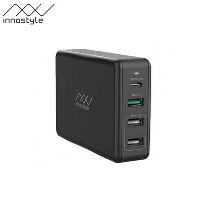 Picture of Innostyle GoMax Pro 4-Port PD/QC USB-C Charger 80W - Black
