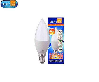 Picture of Eurolux Led Smd Candle Bulb Frosted 4W (E-27) Daylight