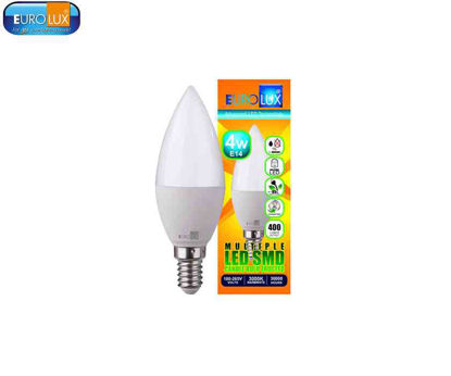 Picture of Eurolux Led Smd Candle Bulb   Frosted 4W (E-27) Warmwhite