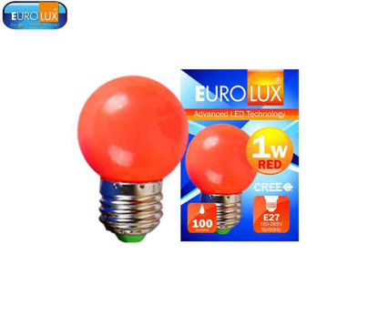 Picture of Eurolux Led Pingpong Bulb 1W (Red)