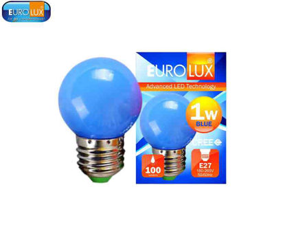 Picture of Eurolux Led Pingpong Bulb 1W (Blue)