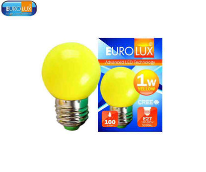 Picture of Eurolux Led Pingpong Bulb 1W (Yellow)