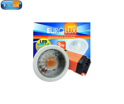 Picture of Eurolux Led Cob Mr16 Spotlight 3W With External Driver Daylight
