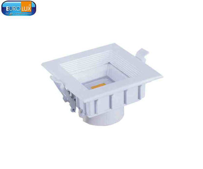 Picture of Eurolux Argos   Square Led Cob Downlight With Glass 8W Warmwhite