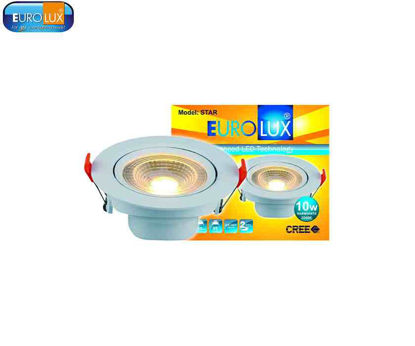 Picture of Eurolux Star   Round Led Smd Directional Spot Light 10W Warmwhite