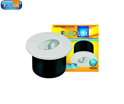 """Picture of Eurolux Bamboo   Round Led Cob Wall Light 3W 2.5"""" Ø, (80X50Mm) Warmwhite"""