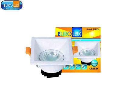 """Picture of Eurolux Earth    Square Led Cob Spotlight 8W 3.0"""" Ø, (93X103Mm) Warmwhite"""