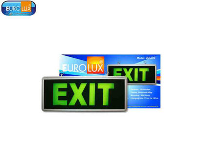Picture of Eurolux Jules Led Emergency Exit Light 3W Green